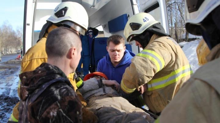 В Сургуте при пожаре в СОТ № 8 пострадал человек
