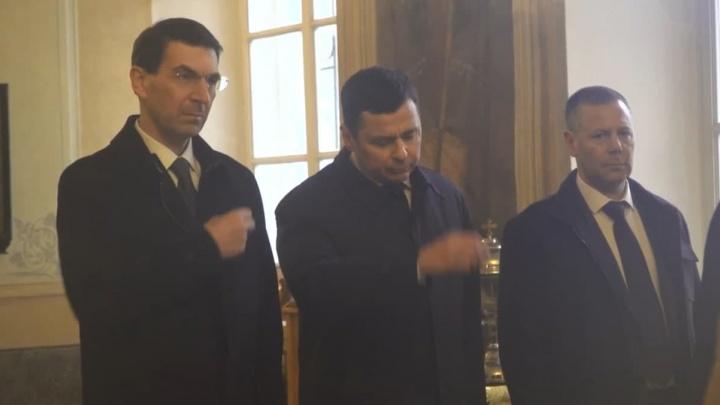 Молитва и хоккей: как врио губернатора Михаил Евраев провел свой первый день в Ярославле