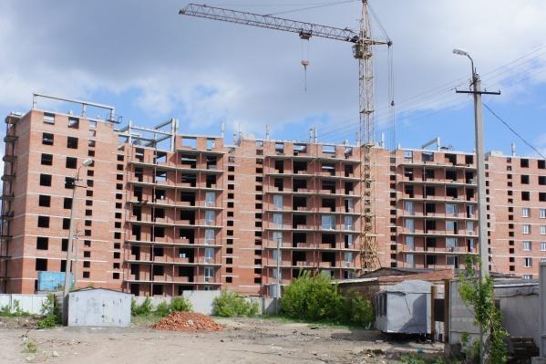 Строительство дома на улице Химиков планируют закончить в этом году
