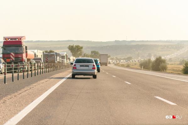"""Новая дорога и новый мост через Волгу позволят сократить пробки на федеральной <nobr class=""""_"""">трассе М-5</nobr>"""