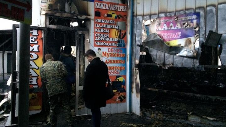 В одном из сгоревших павильонов Качинского рынка обнаружена погибшая женщина