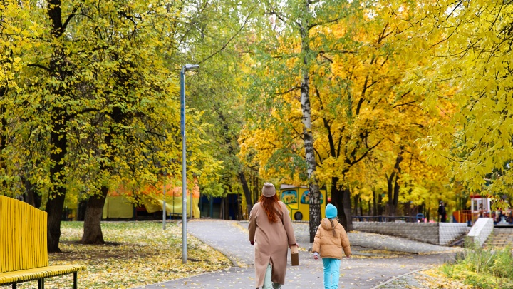 Невероятное буйство красок и яркий ковер под ногами: любуемся золотой осенью в Уфе