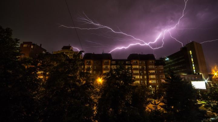 В Новосибирске ночью пройдет гроза, а завтра резко похолодает