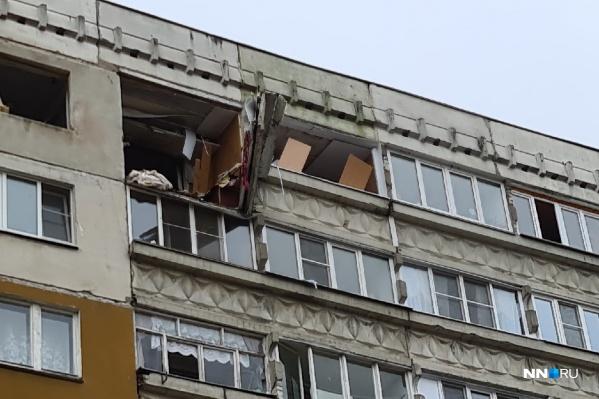 Взрыв произошел на девятом этаже панельного дома