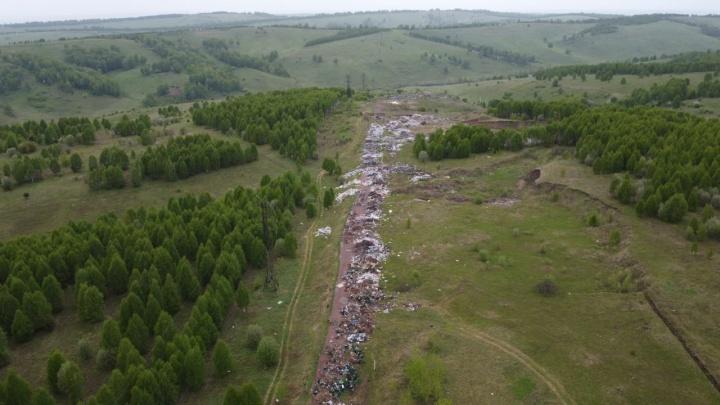 Прокуратура проверит незаконную 600-метровую свалку в Кузбассе, которую видно со спутников