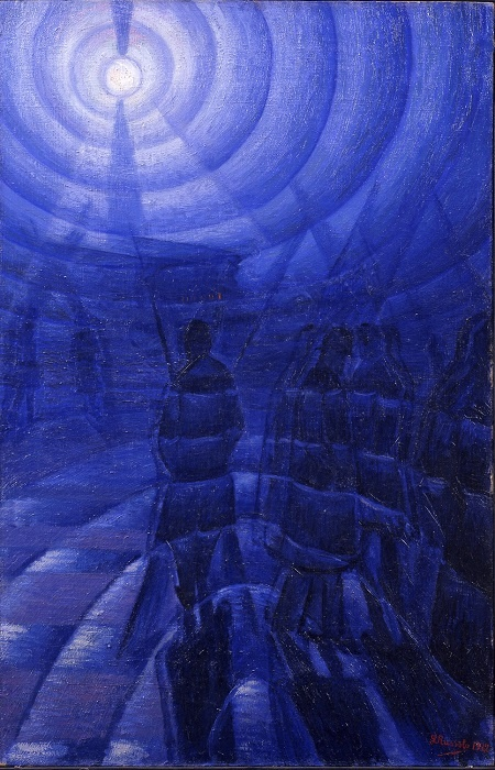 Луиджи Руссоло. Плотность тумана. 1912. Холст, масло