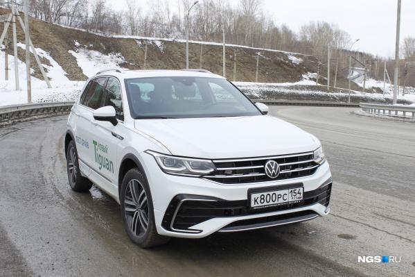 """Volkswagen Tiguan, рестайлинг <nobr class=""""_"""">2021 года</nobr>"""