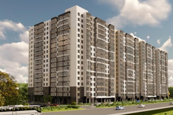 Новый дом расположен в современном микрорайоне Пролетарском