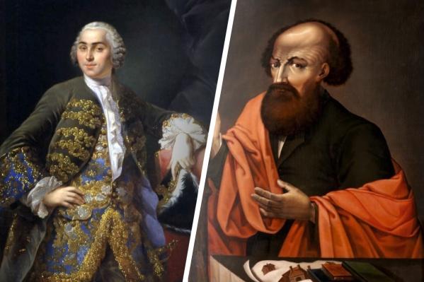 Слева — представитель третьего поколения промышленников Никита Акинфиевич Демидов, справа — основатель династии Никита Демидович Антуфьев