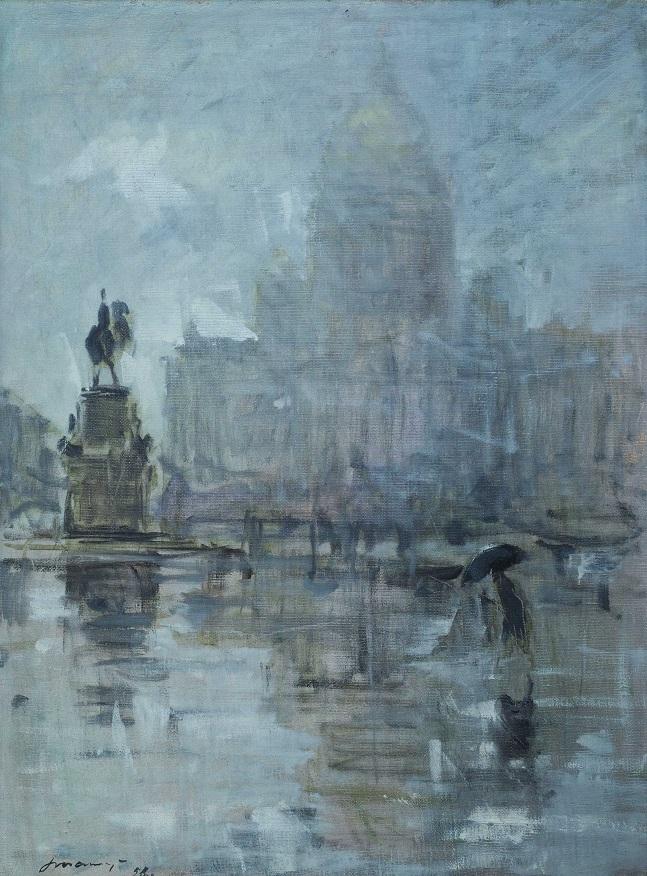 Георгий Татарников. Исаакиевская площадь. 1958. Холст, масло