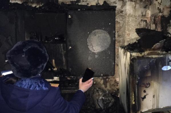Пожар случился днем 22 января