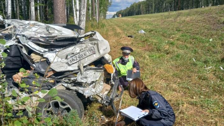 На свердловской трассе произошло смертельное ДТП с участием грузовика