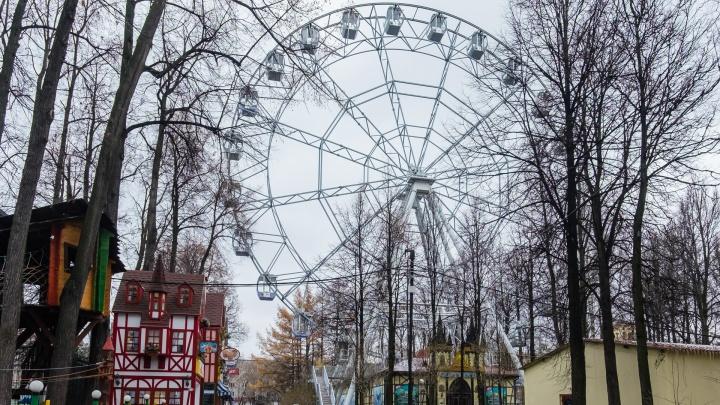 Парк Горького в Перми закрыли из-за наледи на тротуарах