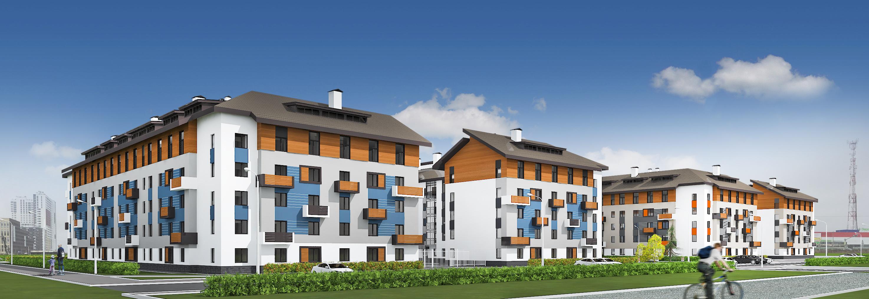 Новые дома «Мичуринского» напоминают уютные финские домики