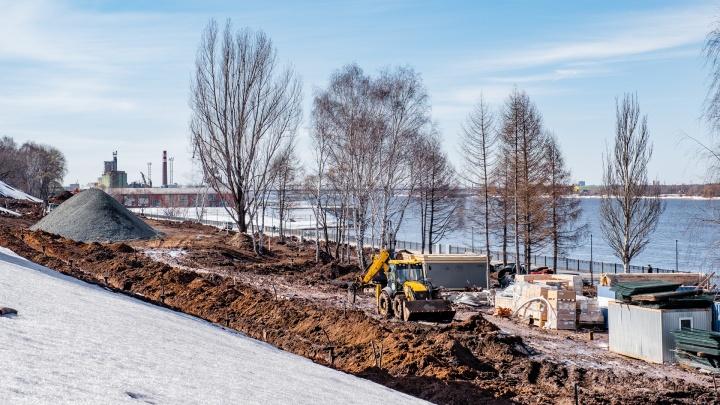 Последний участок пермской набережной откроют после ремонта в 2021 году