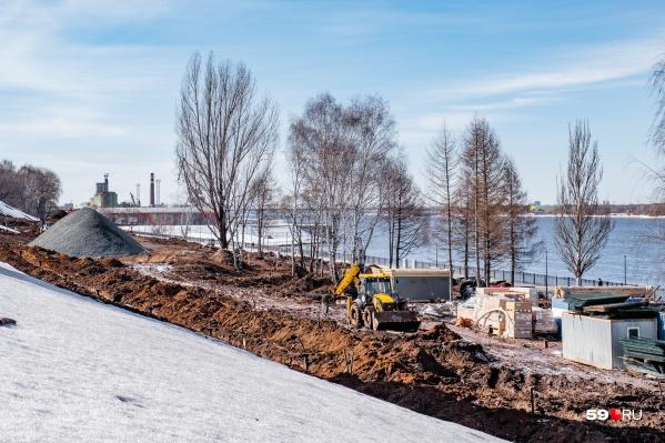 Работы на участке от Соборной площади до «Порта Пермь» пообещали закончить к 1 сентября 2021 года