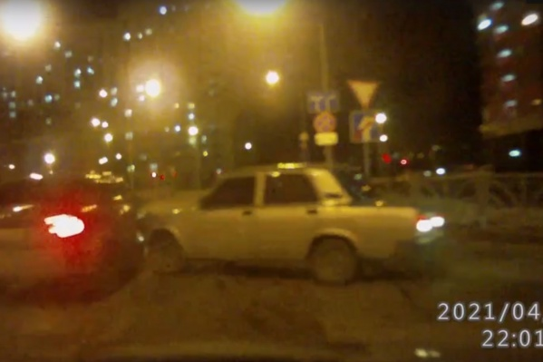 В ДТП пострадали только автомобили