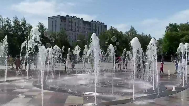 В Стерлитамаке появился свой светомузыкальный фонтан
