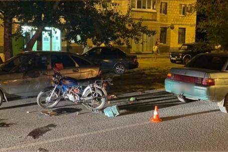В аварии пострадал лишь водитель мопеда