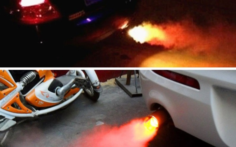 Самые безумные товары для машин: огонь из глушителя и звездное небо на потолке (как в «Роллс-Ройсе»)