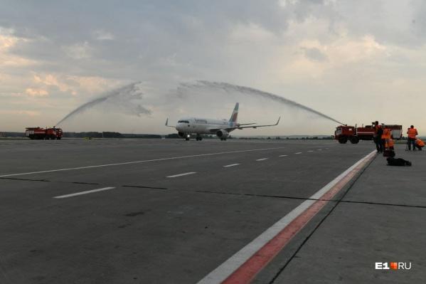 Загрузка первого рейса из Екатеринбурга была чуть меньше 50%