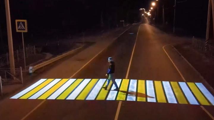 В Минтрансе рассказали, когда в Самаре появятся проекционные пешеходные переходы