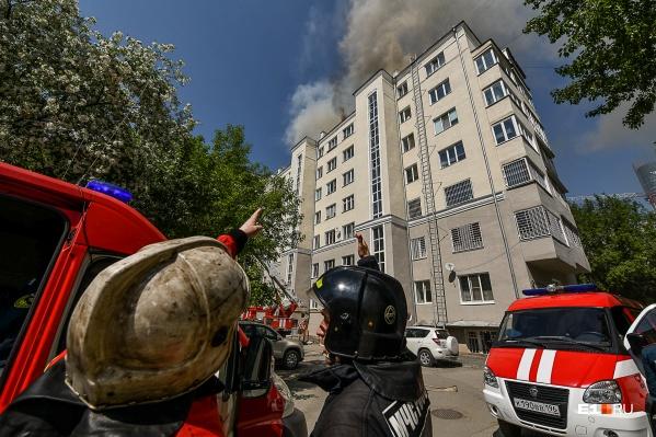 Сильнейший пожар в доме на Шейнкмана случился в разгар майской жары