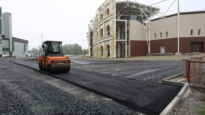 Участок у Центрального стадиона в Челябинске отремонтируют к осени. Его должны были сдать в прошлом году