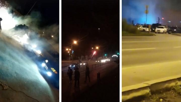 Цветной дым и салюты из машин: полицейские поймали стритрейсеров в Самаре и Отрадном
