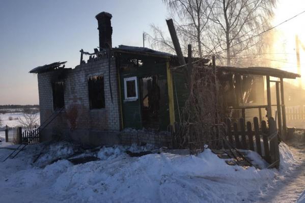 Из дома во время пожара смогла выбраться только 4-летняя девочка