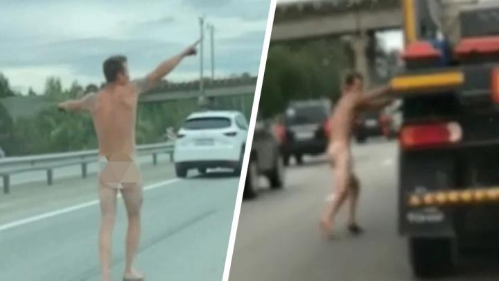 «Он ипотеку выплатил?» Видео с голым мужчиной на Тюменском тракте взорвало соцсети. Рассказываем, чем всё кончилось