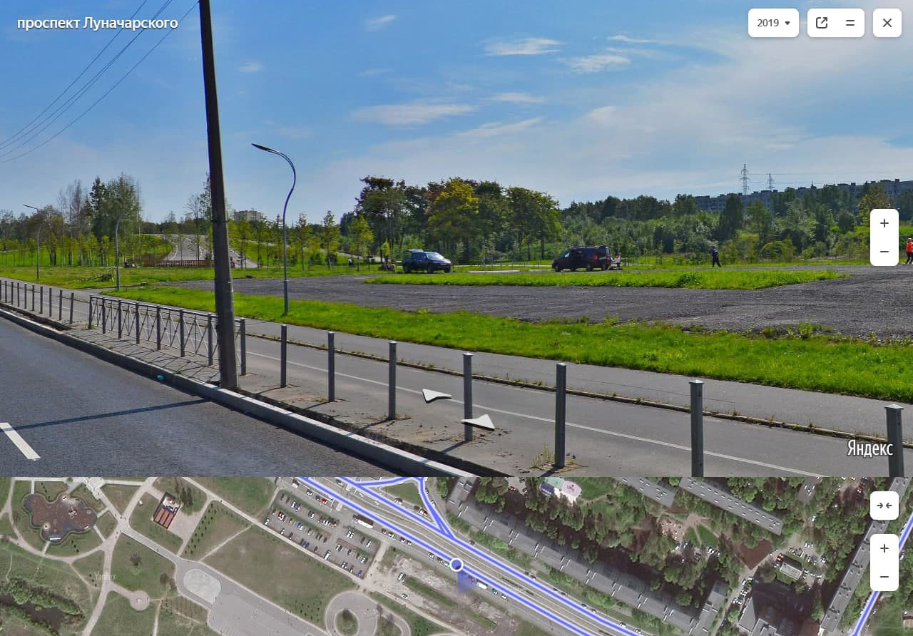 Муринский парк (участок 2) от Гражданского пр. до ул. Руставели