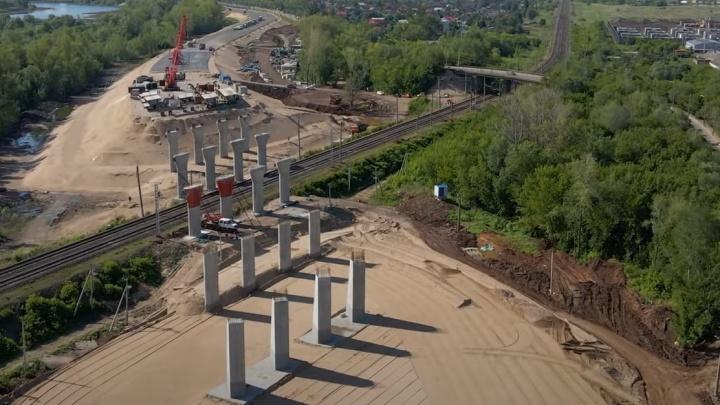 В Самаре рабочие начали подготовку к соединению дорог Самарского (Фрунзенского) моста