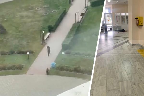 Стрелок вошел в здание Пермского университета сегодня утром
