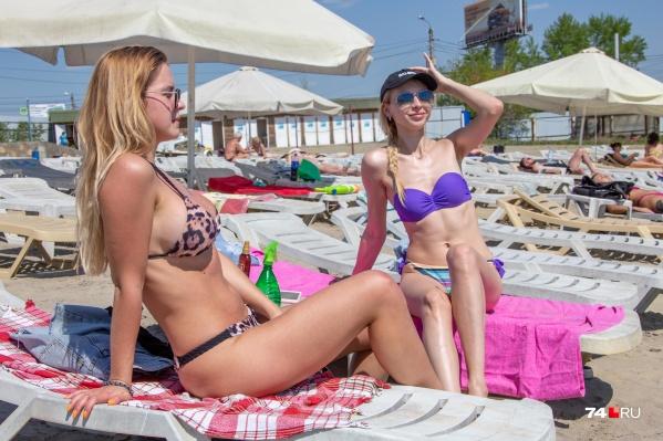 """Челябинки уже открыли пляжный сезон (фото сделано сегодня, <nobr class=""""_"""">14 мая</nobr>)"""
