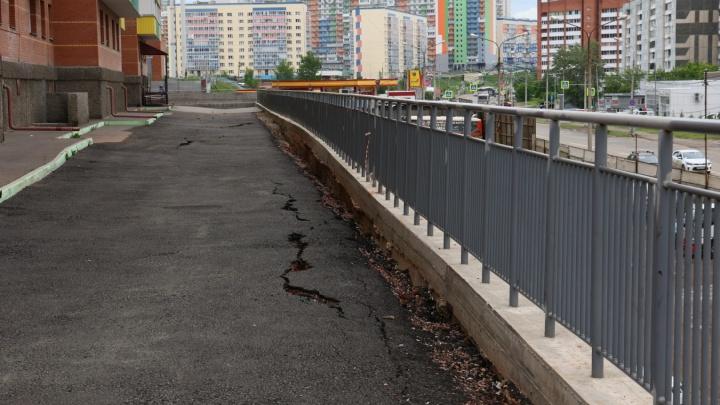 Подпорная стена в Солнечном начала разрушаться после ливней
