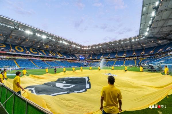 Без зрителей ростовская команда уже сыграла один матч, который прошел 23 июля