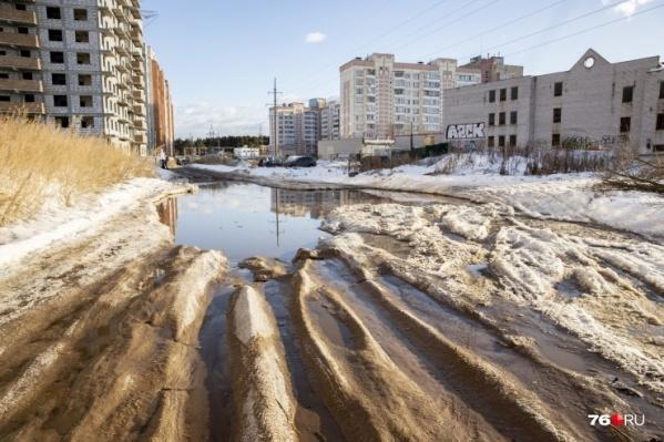 Зимней уборки Ярославля в этом году, казалось, фактически не было