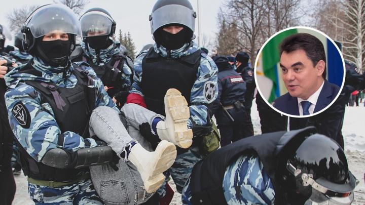 Экс-мэр Уфы Ирек Ялалов назвал действия силовиков на протестных акциях «мягкими»