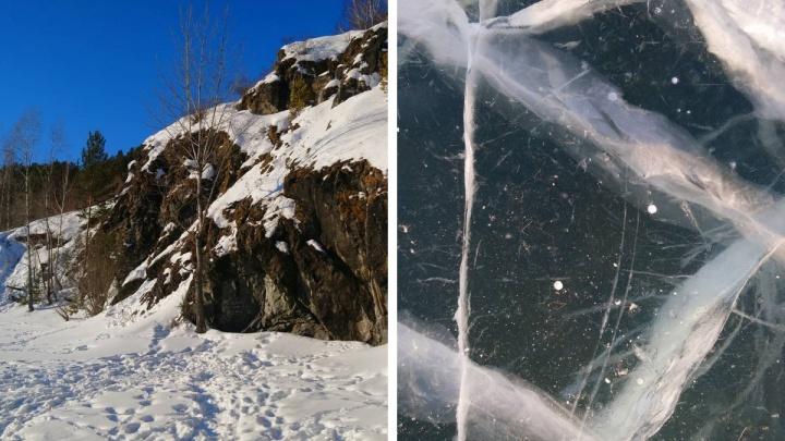 Красноярцы облюбовали лед Енисея для фото, как на Байкале. А безопасно ли это?