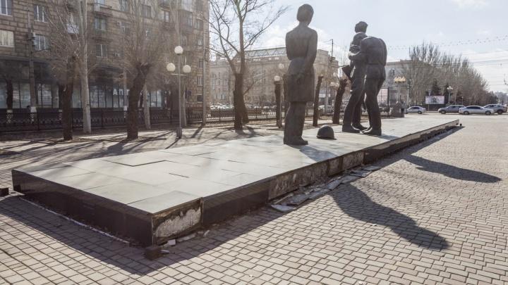 Приклеить и запаять: в Волгограде проект реконструкции памятника комсомольцам прошел историко-культурную экспертизу