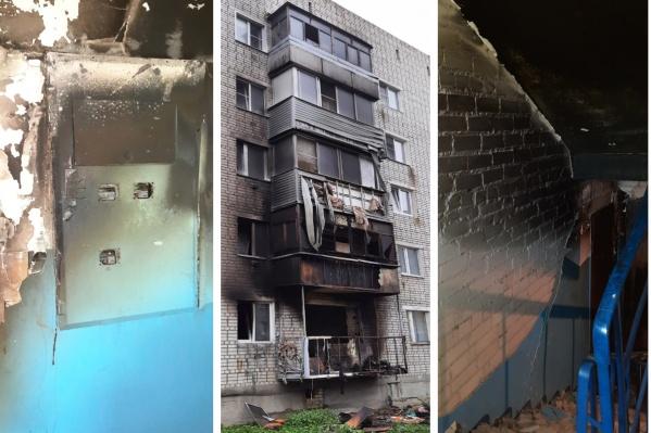Управляющая компания показала, как выглядит пострадавший при взрыве и пожаре дом в Константиновском