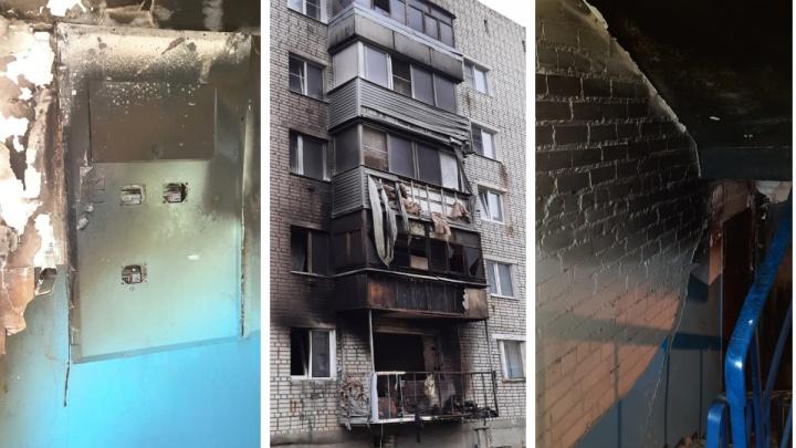 Вынесло балконный блок: как выглядит ярославская пятиэтажка, в которой произошел взрыв и пожар