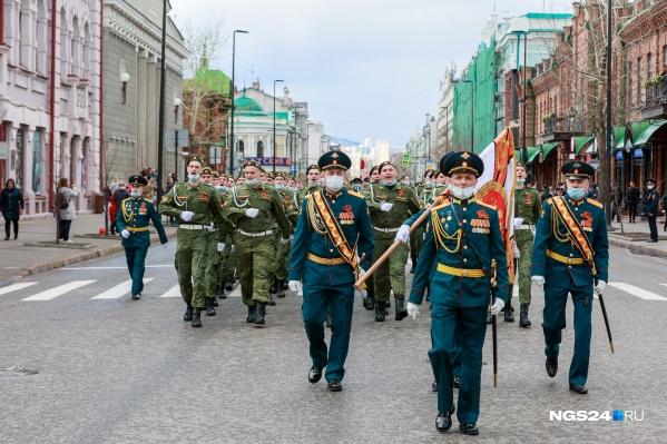 В этом году, в отличие от прошлого, состоялось маленькое шествие в центре Красноярска