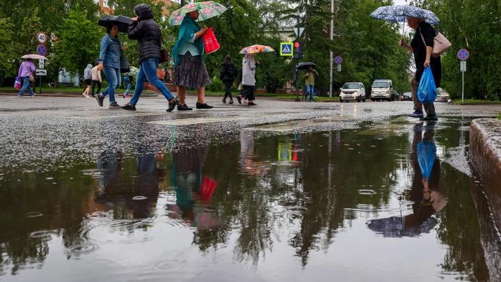 Как Красноярск пережил мощнейший ливень. Улицы центра свободны от воды с утра понедельника