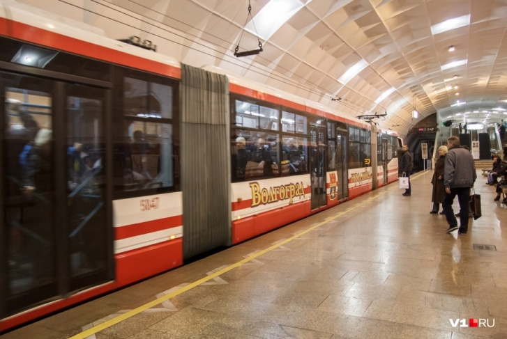 Пример действующего метротрама в Волгограде