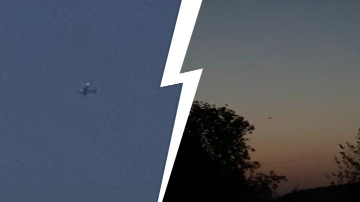 В Белоярском районе жителей напугал военный самолет, кружащий в небе