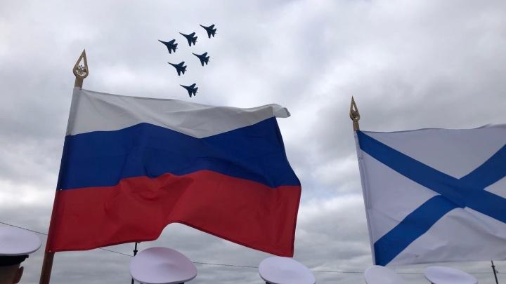 Авиашоу в Архангельске. Смотрим на полеты «Русских Витязей» в прямом эфире