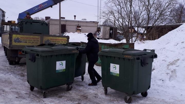 Архангелогородцы сообщили в соцсетях, что на Левом берегу пропали контейнеры для мусора