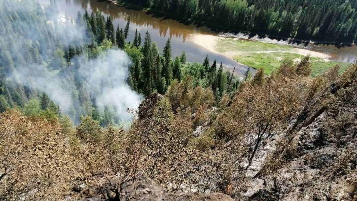 На Усьвинских столбах усилят патрулирование после пожара, который тушили несколько дней